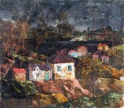 """""""Нощем"""", 70х80, маслени бои/платно"""