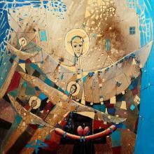 "<strong>Снежана Фурнаджиева</strong> - 2019г.<br />""Да постигнеш светлината""<br />80x80, м.бои/платно"
