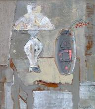 """""""Бялата лампа"""", 46х42, маслени бои/платно"""