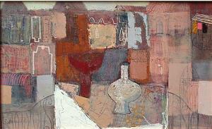 """""""Спомен за една улица"""", 40х65, маслени бои/платно"""