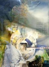 Колизеумът I - акварел ,ръчна хартия /102х74/