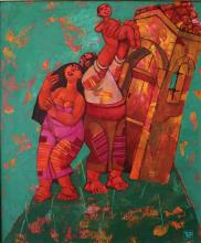 """""""Birth"""" / 55х46 / acrylic, canvas"""