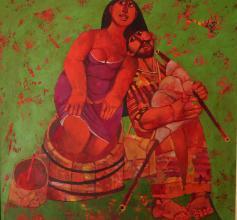 """Wine"" / 70x70 / acrylic, canvas"
