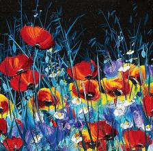 Poppies, 30х30, oil on canvas