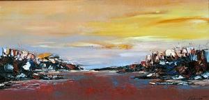 <p>Sunset in Kushadasa, 35х70, oil on canvas</p>