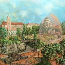 Спомен за отминалия век / 100х110 / м. бои, платно