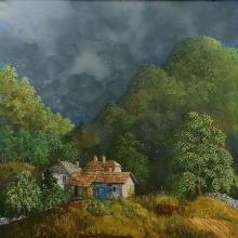 Landscape from Oreshaka / 75х80 / oil paints on canvas