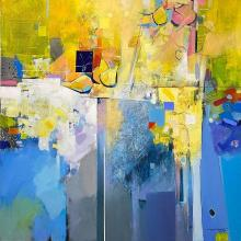 Summer in Obitel / 100х100 / acrylic on canvas