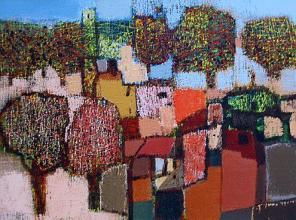 """""""Градски пейзаж"""", 60х80, акрил/платно"""