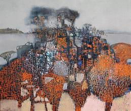Skyline, 60х70, acrylic on canvas