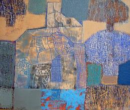 Blue, blue, 55х65, acrylic on canvas