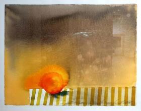 Димитър Воденичаров<br />Портокал /51х65/ акварел, ръчна хартия