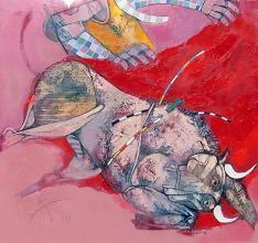 Corida, 60х60, oil on canvas