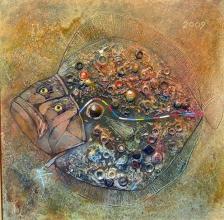 Turbot fish, 45х45, oil on canvas