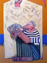 """""""Продавач на риба"""", 90х70"""