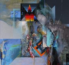<p>Sanctuary, 60x60, acrylic on canvas</p>