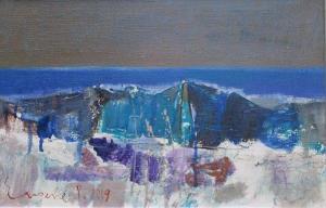Sea sad, 27х41, oil on canvas