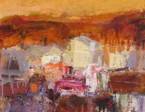 Pastoral sunset, 33х41, oil on canvas