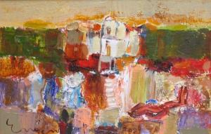 Pastoral morning, 27х41, oil on canvas