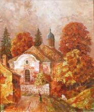 The Church in Medven, 50х40, oil on canvas