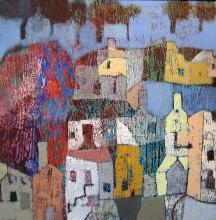 Ancient town, 60х60, acrylic on canvas