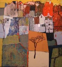 Autumn landscape, 60х60, acrylic on canvas