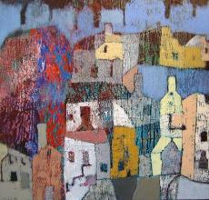 Figures and structures, 60х100, acrylic on canvas