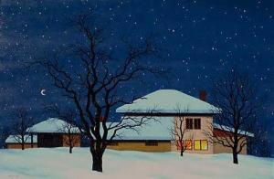 House of Groga, 40х60, oil on canvas