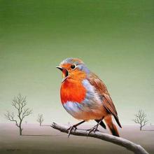 Singer, 30х30, oil on canvas