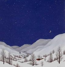 Christmas, 40х40, oil on canvas