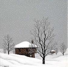 Winter silence, 30х30, oil on canvas