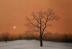 Winter sunset, 50х73, oil on canvas