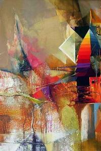 Gencho Nakev, <em>San Stinos Afternoon</em>, 76х62, acrylic on canvas