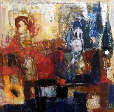 Cypress, 60х60, oil on canvas