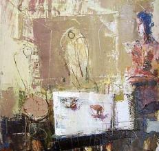 He, 40х40, oil on canvas