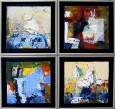 Kamping (poliptih), 40х40, oil on canvas