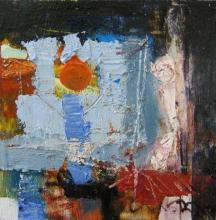 Moon, 20х20, oil on canvas