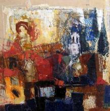Model, 70х70, oil on canvas