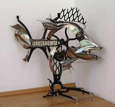 Rusi Kostadinov, <em>Fish - Singer</em>, 78х85х35