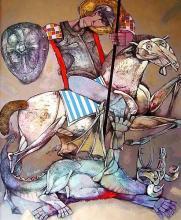 Krastyo Todorov-Keca, <em>St. George</em>, 100х80