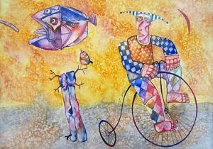 Krastyo Todorov-Keca, <em>Watercolor</em>, 24х34