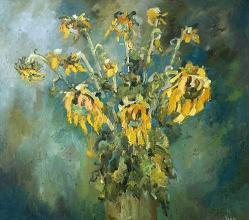 <p>The drama of dried sunflowers, 80х90</p>