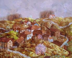 """""""Пролет"""", 60х73, маслени бои/платно"""