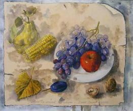 """Учебна рисунка"", 38х46,маслени бои/платно"