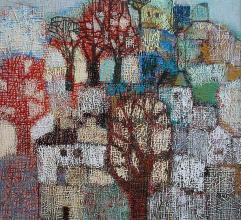 Winter trees, 60х60, acrylic on canvas