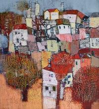 Urban landscape, 70х60, acrylic on canvas