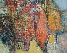 Poplar trees, 60х70, acrylic on canvas