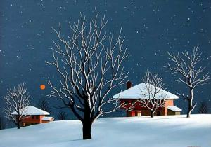 Christmas Eve, 30х40, oil on canvas