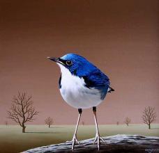 Bird, 30х30, oil on canvas