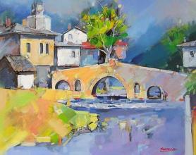 Landscape with bridge, 50х60